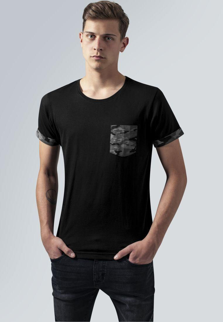 Camo Contrast Pocket Tee by Urban Classic available at My Harley and Rose