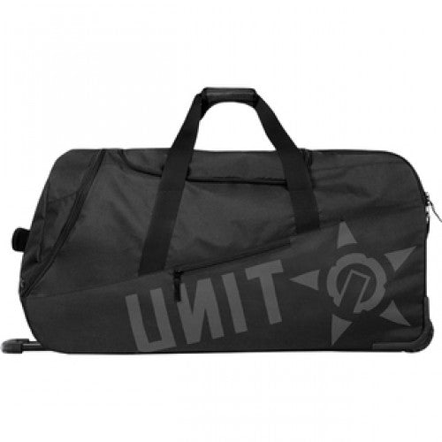 BAG DELUXE GEAR BAG VOYAGE BLACK   At Unit design is our passion, we spend months and months envisioning and developing products that fit your life. Quality and longevity are the base attributes of all of our products. We are confident that your experience with a Unit product will always be a dependable one. Unit have pulled out all the stops with the Voyager Gear Bag. Offering a Godzilla-esque 150L of storage, these monsters are lightweight, have well considered pockets and seperated storage solu