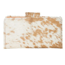 Load image into Gallery viewer, Small Flap Cowhide Wallet – Vermont by The Design Edge available at My Harley and Rose