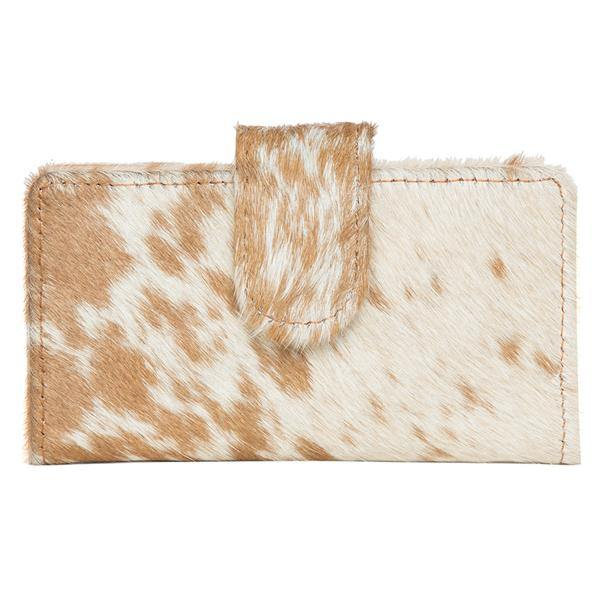 Small Flap Cowhide Wallet – Vermont by The Design Edge available at My Harley and Rose