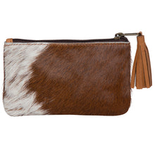 Load image into Gallery viewer, Small Tassel Cowhide Purse. Available at My Harley and Rose.