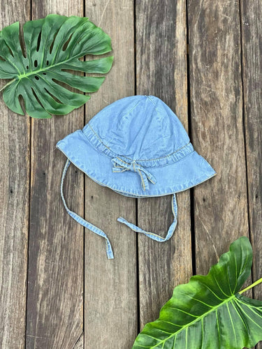 Sun Hat Denim Blue One size, 100% organic cotton, designed in Australia. Available at My Harley and Rose.