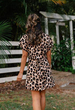 Load image into Gallery viewer, Leopard Wrap Dress by San Jose The Label available at My Harley and Rose