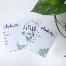 Load image into Gallery viewer, Milestone Cards for Twins - Fern Design - Harley and Rose