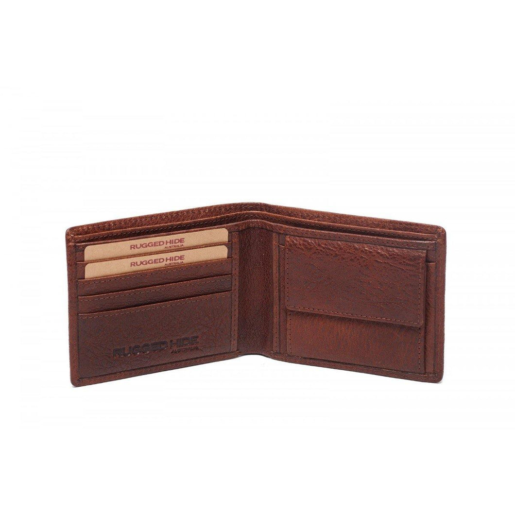 Nick Wallet Mens wallet- 4 card holders- 1 coin pocket with press stud close-2 note compartments-3 hidden compartments. Available at My Harley and Rose.