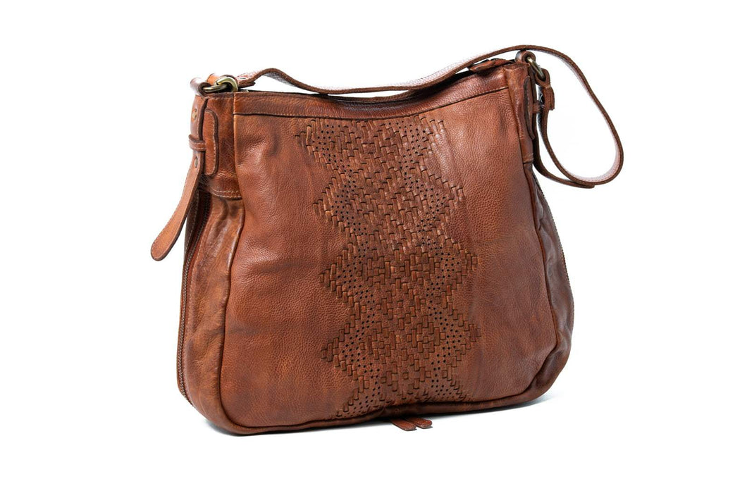 Elsie Soft leather boho chic style bag by Oran Leather is available at My Harley and Rose