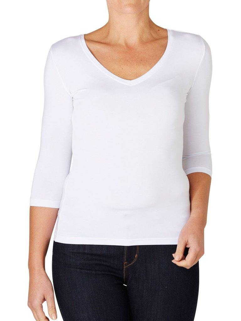 Tani 3/4 Sleeve V Neck Top available at My Harley and Rose