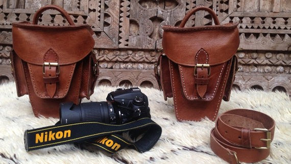 Cameraman - Nikon & Canon handmade Leather Photographer Purse NOW in NY