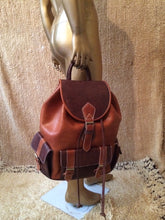 Load image into Gallery viewer, Backpack indiana jones Rustic Leather bag