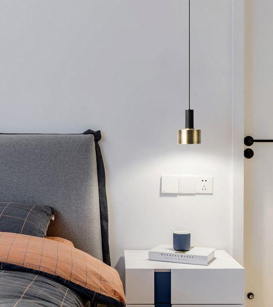 Scandinavian Design Aluminum and Brass Pendant - Naya North