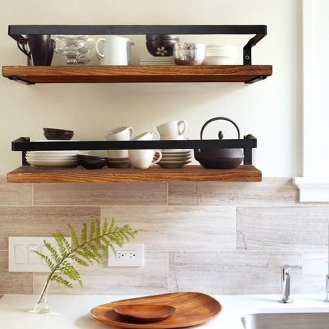 Rustic Floating Shelf - two shelves in kitchen 2 - Naya North