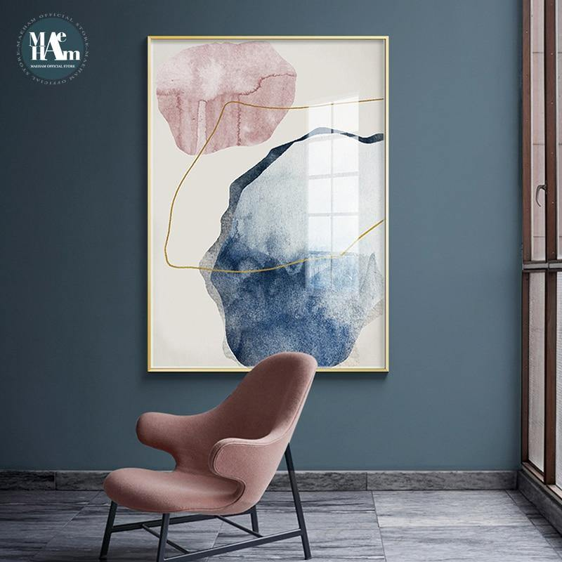 Abstract painting canvas Arctic Spring inspiration
