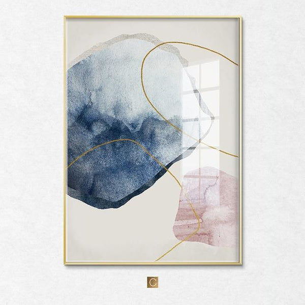 Abstract painting Arctic Spring Canvas Poster