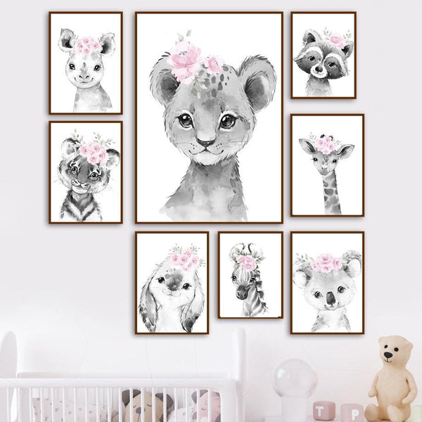 Canvas Poster - Poster Wall - Baby Animal Poster - Naya North