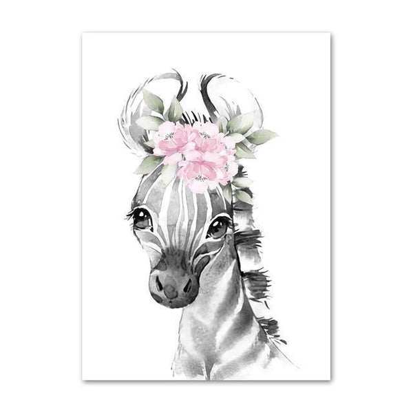 Canvas Poster - Baby Zebra - Naya North