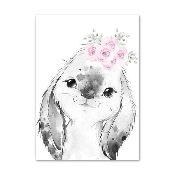 Canvas Poster - Baby Rabbit - Naya North