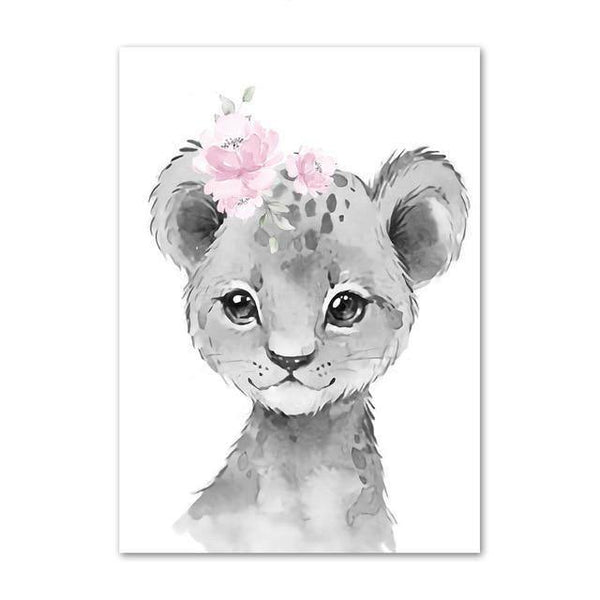 Canvas Poster - Baby Lion - Naya North