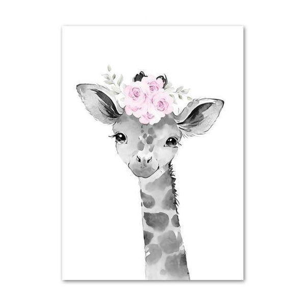 Canvas Poster - Baby Giraffe - Naya North