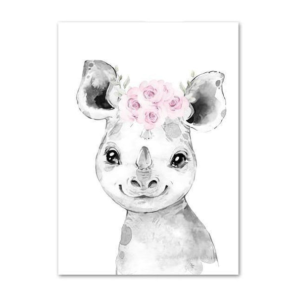 Canvas Poster - Baby Rhino - Naya North