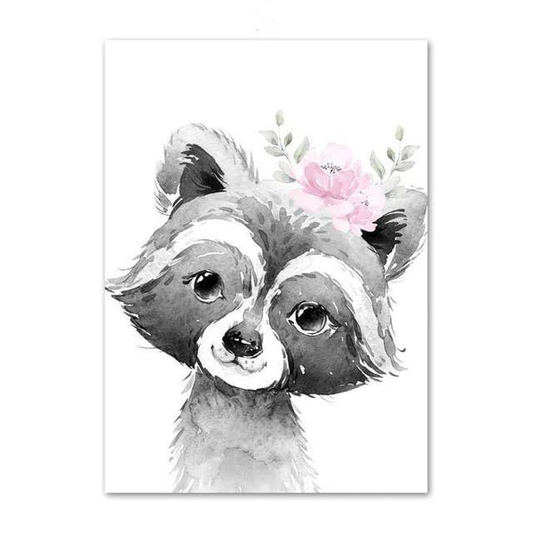 Canvas Poster - Baby Racoon - Naya North