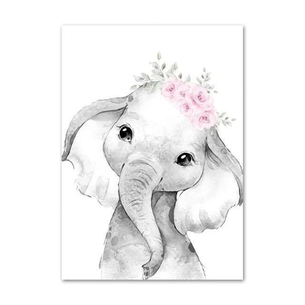 Canvas Poster - Baby Elephant - Naya North