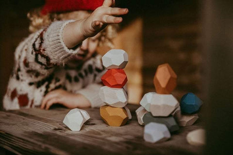 Tumi Ishi - Building blocks - Wooden rocks - Naya North
