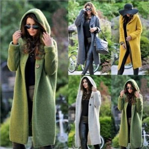 Cardigan Long Hooded Cardigans Sweater