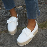 Bowknot Espadrille Shoes Platform Loafers