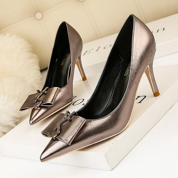 Stiletto Heel Pointed Toe Party Pumps High Heel Shoes