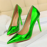 Fashion Solid Color Pointed Toe Party Shoes Stiletto Heel Shoes for Women