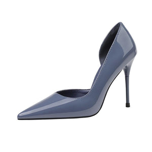 PU Pointed Toe Office Lady Stiletto Heel Shoes