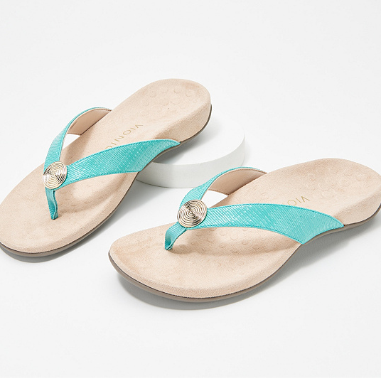 Womens Beach Shoes Wedge Flip Flops