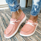 Plus Size Casual Lace Up Flat Loafers
