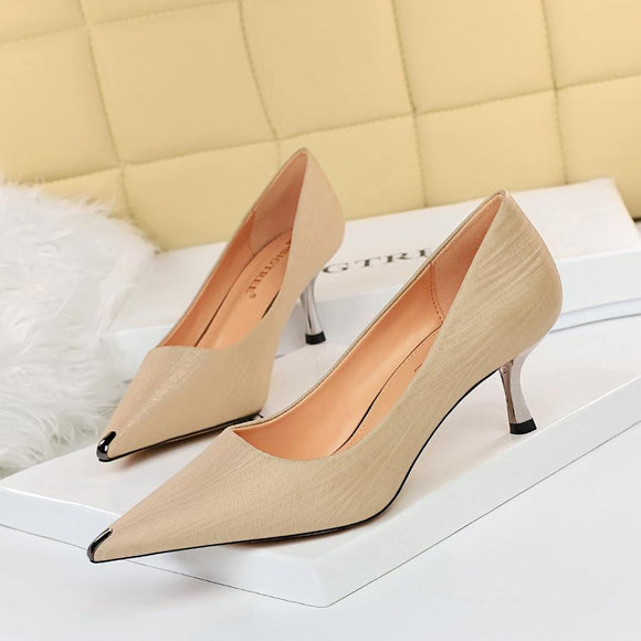 New Satin Pointed Toe Stiletto Heel Bridal Party Shoes