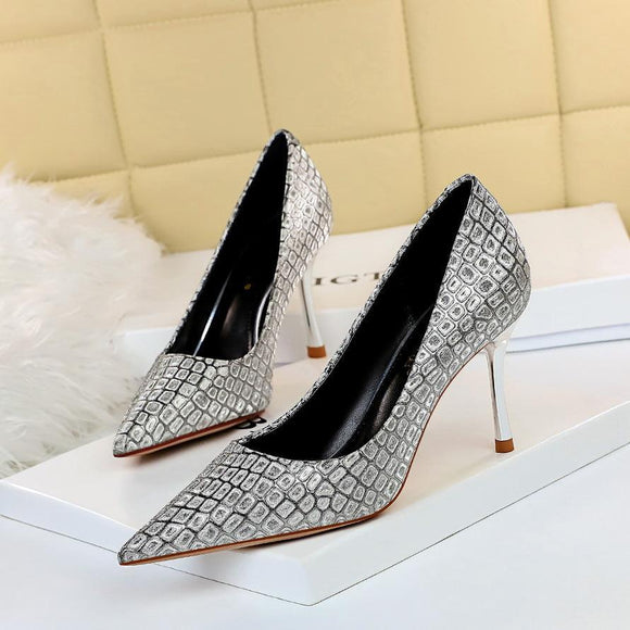 New Plaid Rhinestone Stiletto Heel Pointed Toe Bridal Party Shoes