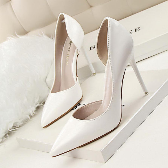 Fashion Fashion Women Solid Color Pointed Toe Stiletto Heel Shoes