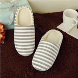 Adult's Family Faux Fur Stripe Slippers Comfy Slip on Anti-skid Sole indoor outdoor