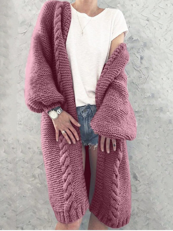 Autumn/Winter Loose Mid-length Sweater Cardigan