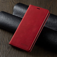 Lade das Bild in den Galerie-Viewer, iPhone Magnetic Leather Case for iPhone 12 Mini 11 Pro XS