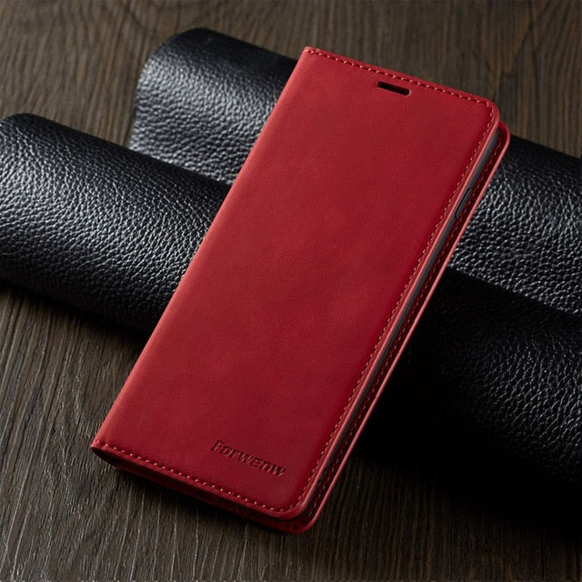 iPhone Magnetic Leather Case for iPhone 12 Mini 11 Pro XS