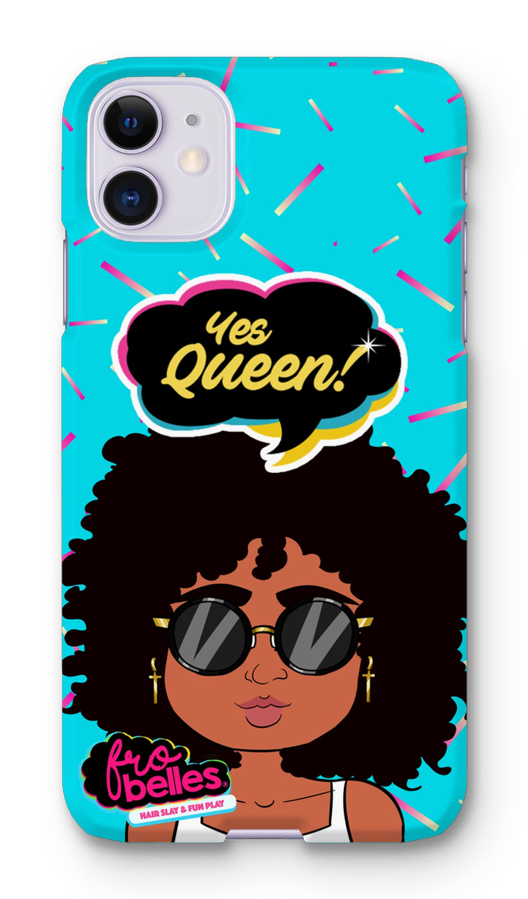 Kelli 'Yes Queen!'  - Blue Phone Case