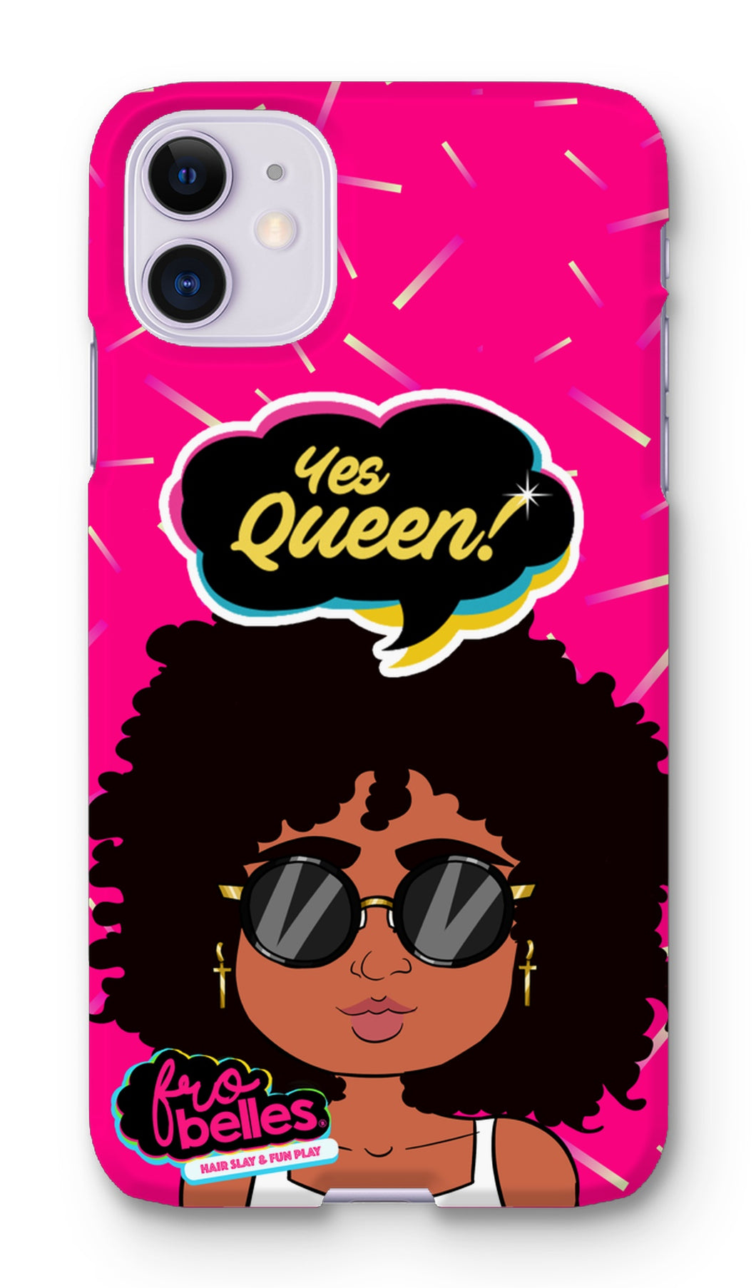 Kelli 'Yes Queen!' - Pink Phone Case