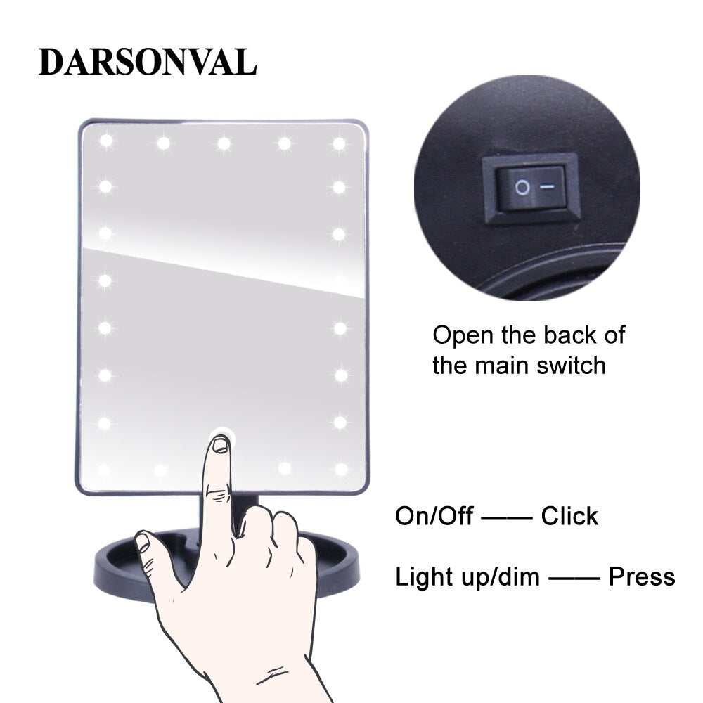 Makeup Mirror With Adjustable LED Light