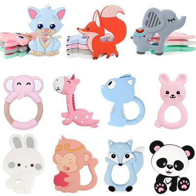 BPA free Animal Silicone Teethers 1PC