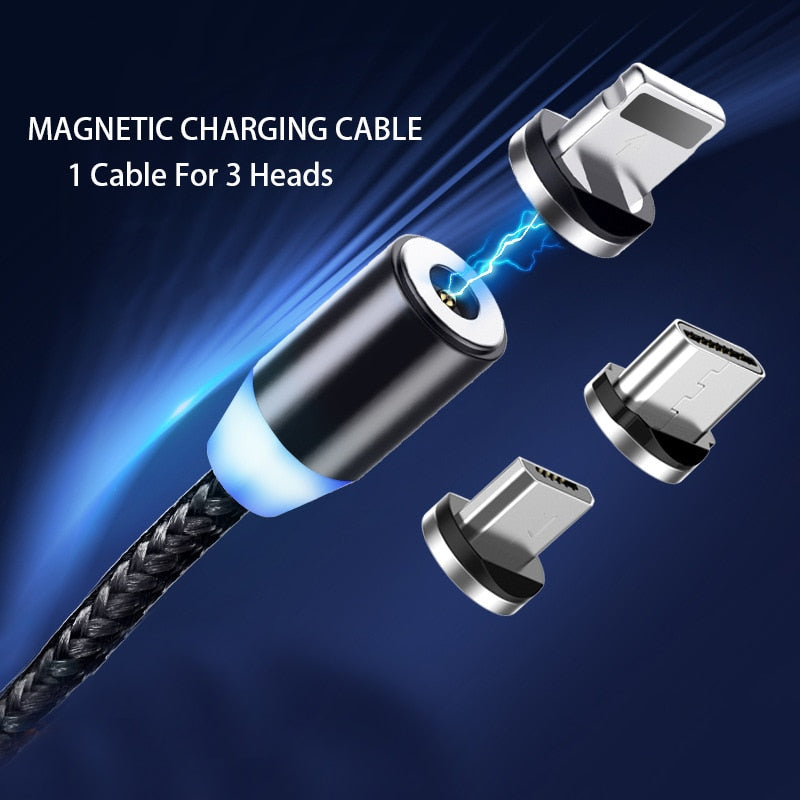 Magnetic USB Cable Fast Charging (ALL Types of Phone)