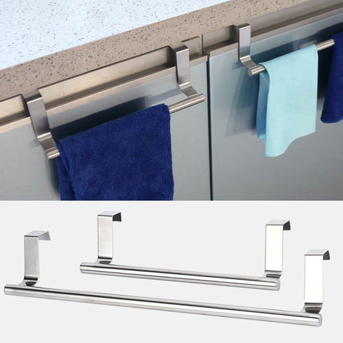 2 Size Towel Racks Over Kitchen Cabinet Door