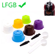 6Pcs Filter Cup Reusable Coffee Capsule Filters