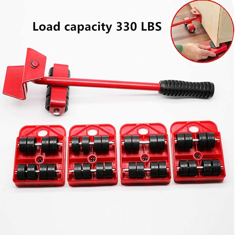 4pcs Moves Furniture Tool Transport Shifter Moving Wheel Slider Remover Roller Moving Tools Heavy Easily Lift Heavy Objects