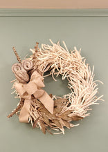 "Load image into Gallery viewer, 24"" White Nest Wreath"