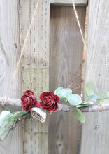 Load image into Gallery viewer, Burgundy Rose Wreath Garland